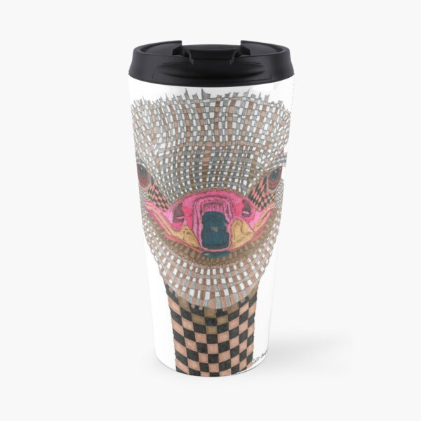 Checkerboard Ostrich Travel Mug
