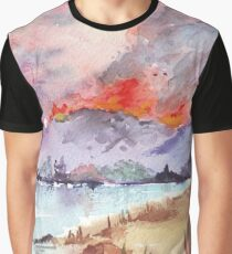 Veldfire over the mountains Graphic T-Shirt