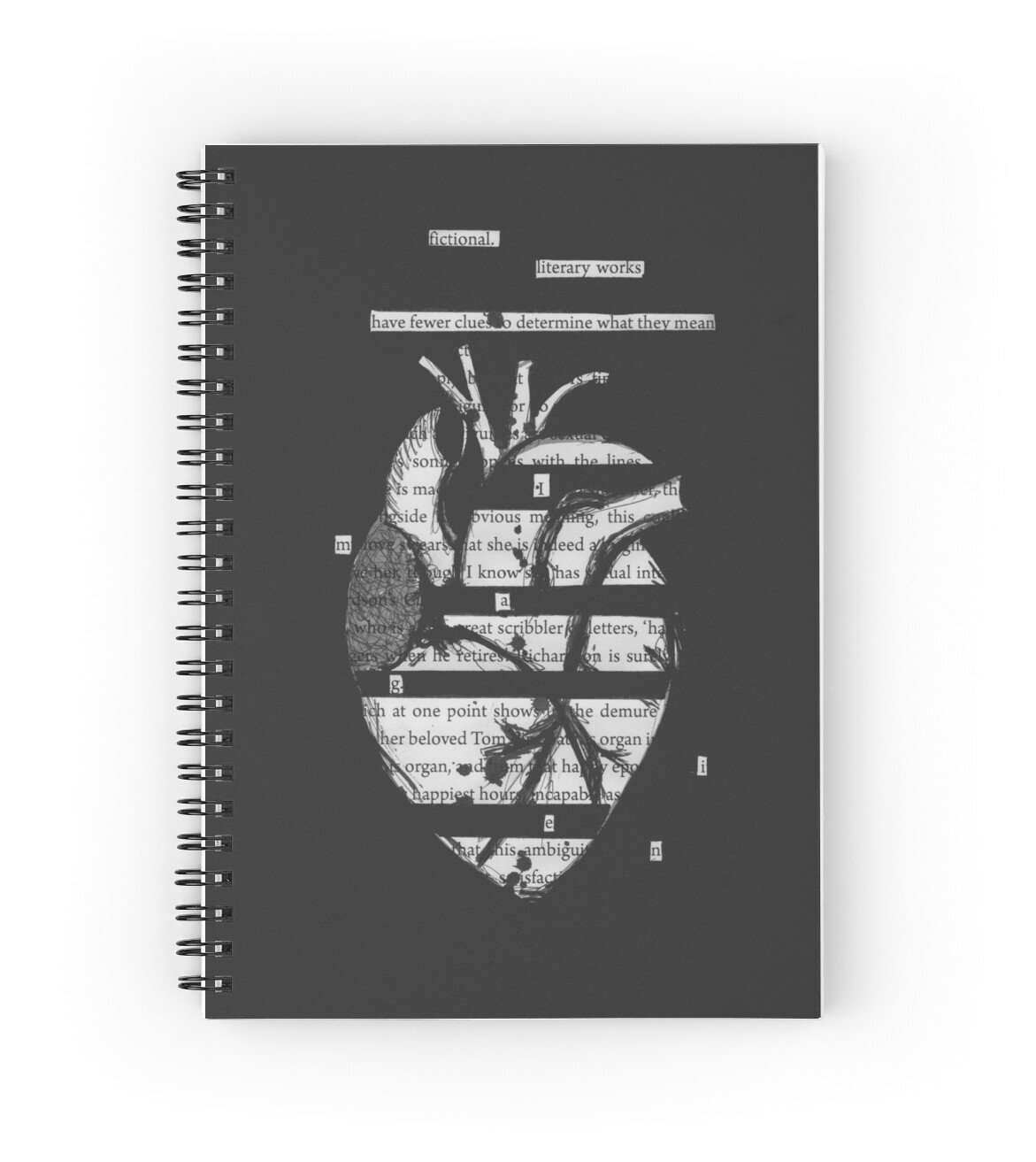 Quot Blackout Poetry Heart Quot Spiral Notebooks By Eliza Gwynne
