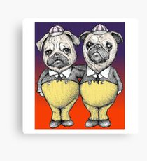 Tweedledum and Tweedledee Pugs Canvas Print