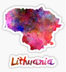 Lithuania in watercolor Sticker