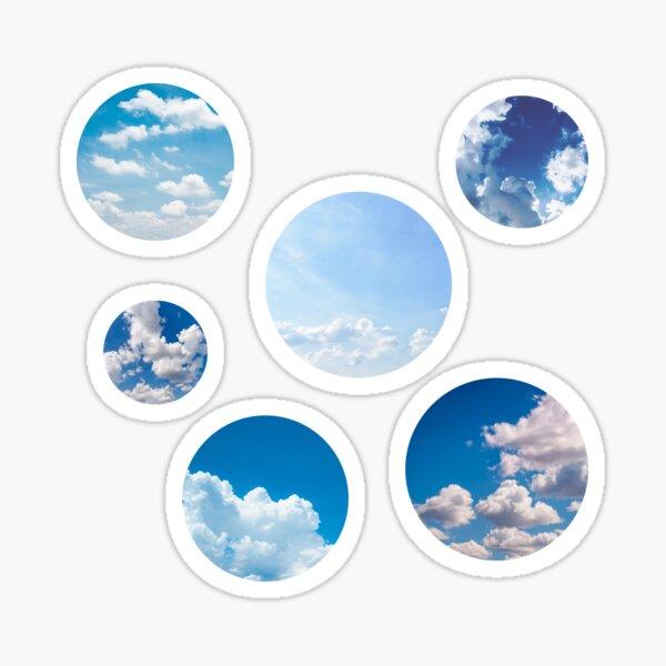 Blue cloud photo bubbles Sticker
