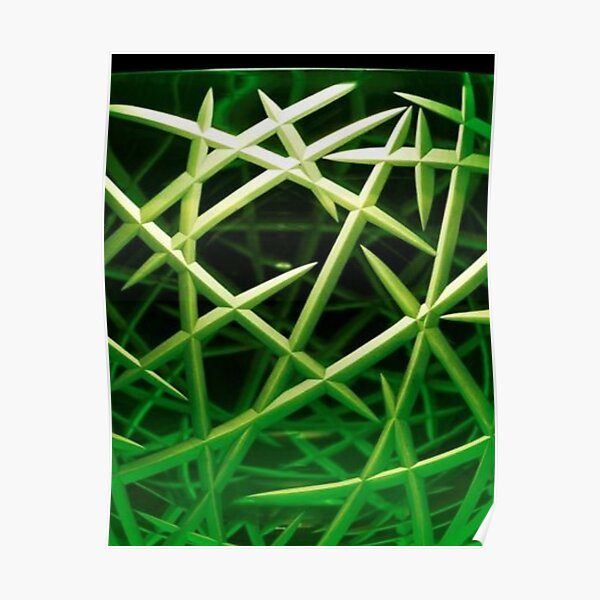 Lovely beautiful green and black colored pattern Poster