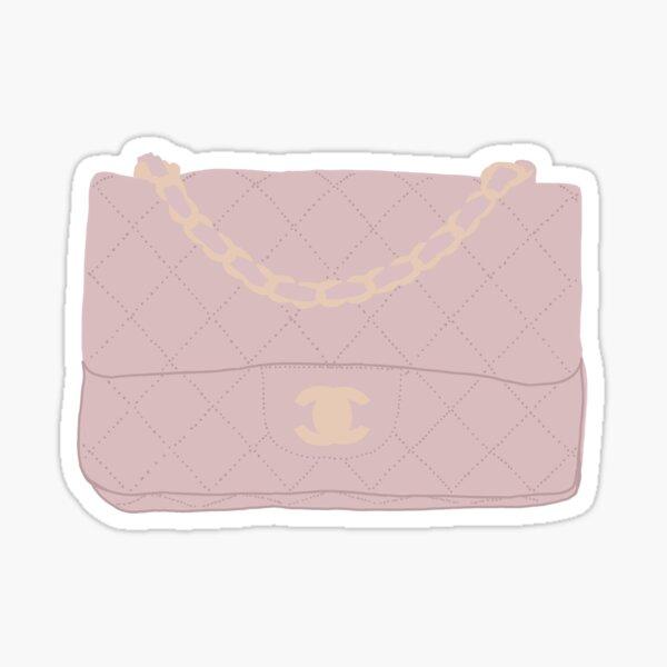 sac chanel rose Sticker