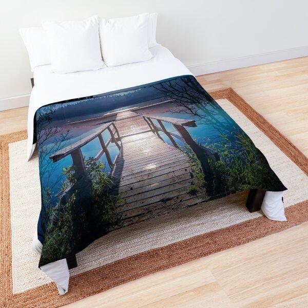 Tranquil Moonlight Beach Comforter
