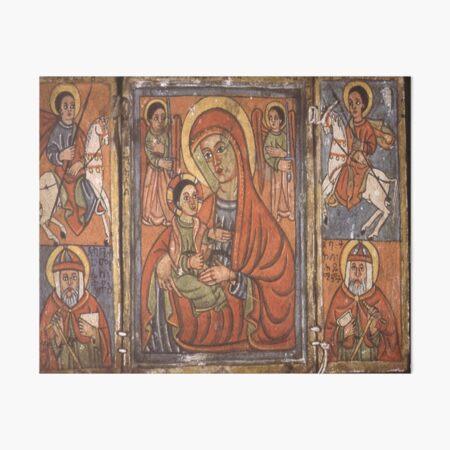 Ethiopian Orthodox Christian Icon Theotokos Art Board Print
