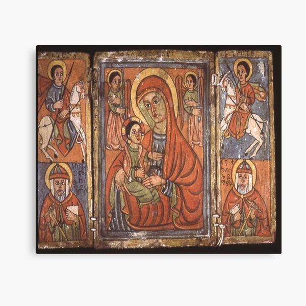 Ethiopian Orthodox Christian Icon Theotokos Canvas Print