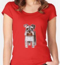 Schnauzer Dog No 1 Women's Fitted Scoop T-Shirt