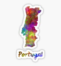 Portugal in watercolor Sticker