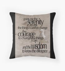 Serenity Prayer 01 © Vicki Ferrari Photography Throw Pillow