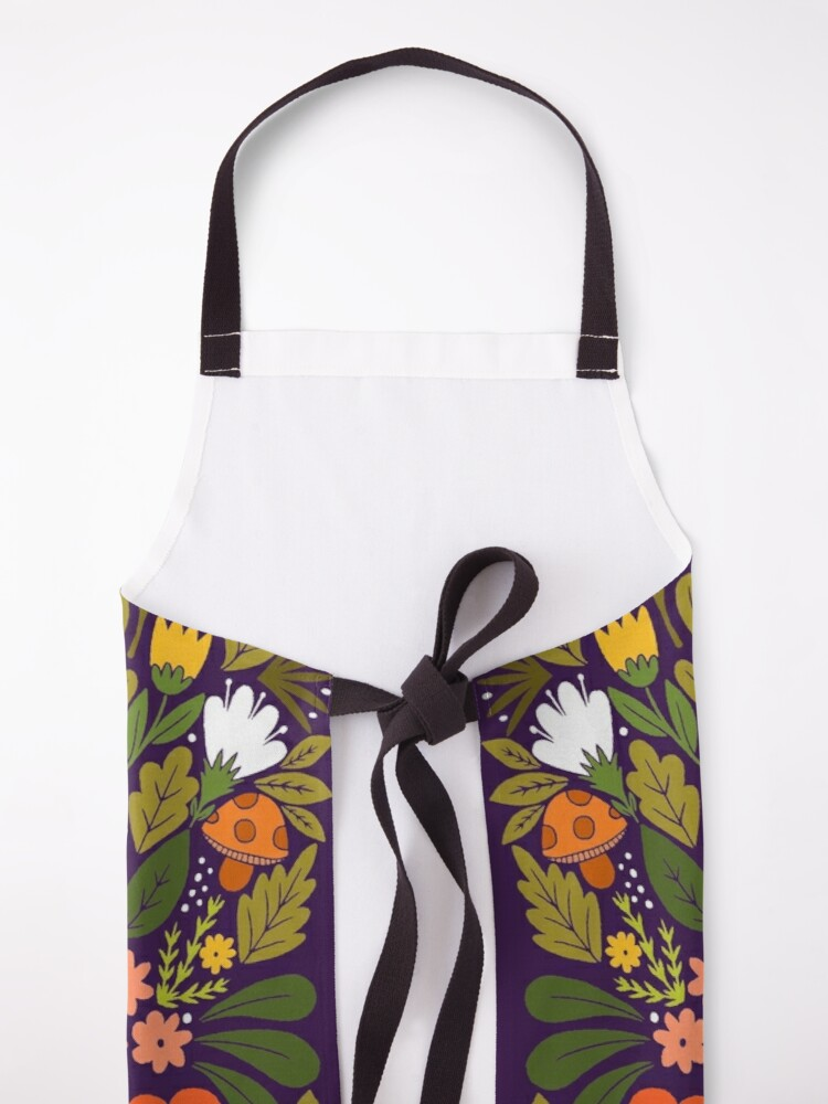 Alternate view of though she be but little, she is fierce! Apron