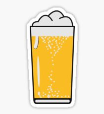 Drinking beer drinking beer glass Sticker