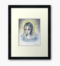Weeping Angel (water) Framed Print