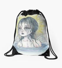 Weeping Angel (water) Drawstring Bag