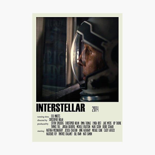 Interstellar Alternative Poster Art Movie Large (1) Photographic Print