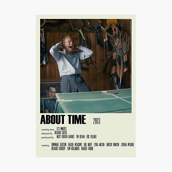 About Time Alternative Poster Art Movie Large (1) Photographic Print