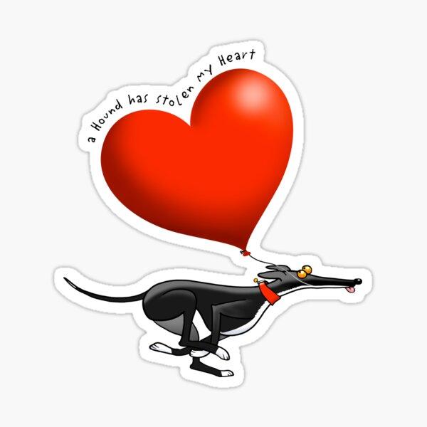 Stolen Heart - black hound Sticker
