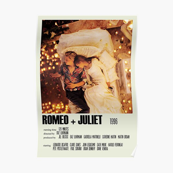 Romeo + Juliet (1996) Alternative Poster Art Movie Large (1) Poster