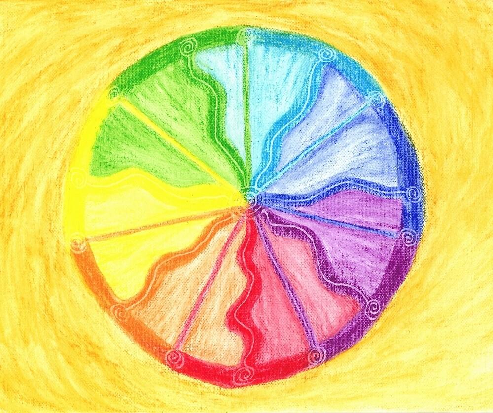 Rainbow Healing Mandala by HeidiArts