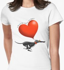 Stolen Heart - black hound Women's Fitted T-Shirt