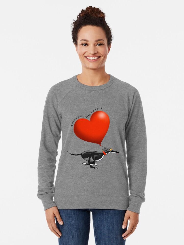Alternative Ansicht von Gestohlenes Herz - schwarzer Hund Leichter Pullover