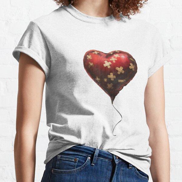 "Banksy's ""Heart Balloon""  Classic T-Shirt"