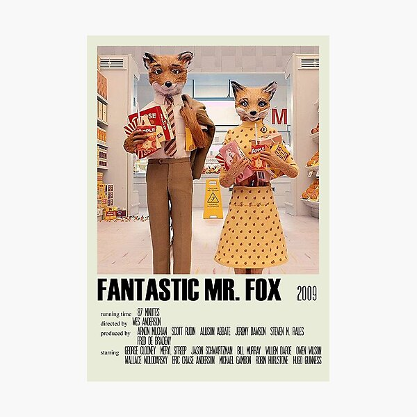 Fantastic Mr. Fox Alternative Poster Art Movie Large (4) Photographic Print