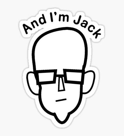 And I'm Jack (black lines) Sticker
