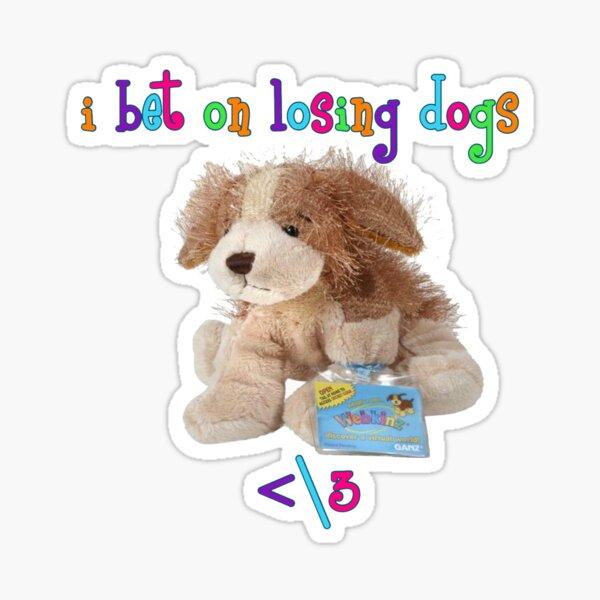 I Bet on Losing Dogs Mitski x Webkinz (Rainbow Font) Sticker