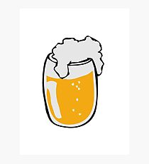 Drinking beer glass drink Photographic Print