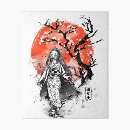 Nezuko Ink Art Board Print