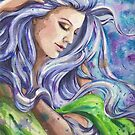 Watercolor Woman Flow by justteejay