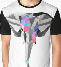 Low-Poly Elephant Graphic T-Shirt