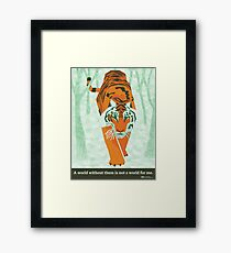 Tiger Conservation Framed Print