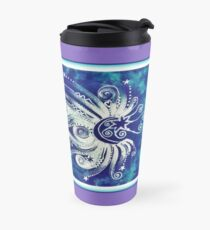 Teal and Purple Moonbeams Travel Mug