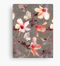 Coral Hibiscus Canvas Print