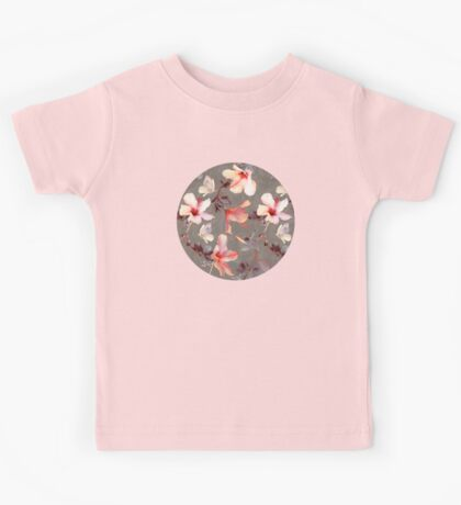 Coral Hibiscus Kids Clothes