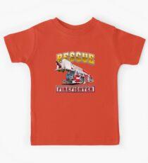 Cartoon Fire Truck Kids Tee