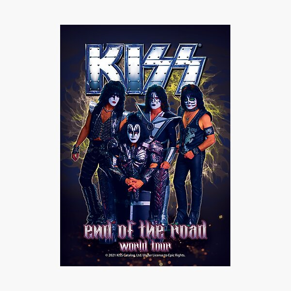 KISS Band-End of the Road World Tour Photographic Print