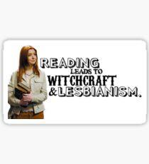 Pegatina La lectura conduce al lesbianismo