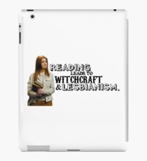 Reading leads to lesbianism iPad Case/Skin