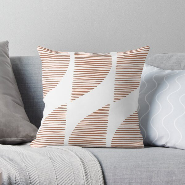 Earthy geometric shapes pattern Throw Pillow