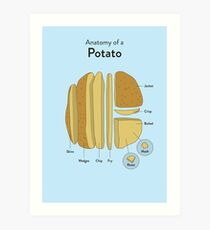 Potato Art Print
