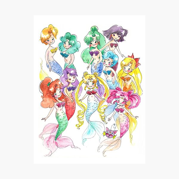 Mer Scouts - Inner and Outer Mer Senshi Photographic Print