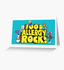 Food Allergy Rock ! Greeting Card