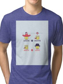 Lego and Maths Tri-blend T-Shirt