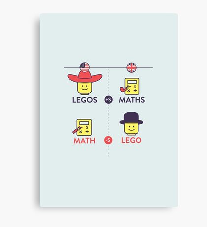 Lego and Maths Canvas Print