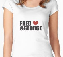Fred and George Love  Women's Fitted Scoop T-Shirt