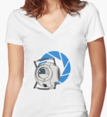 Wheatley! - Portal 2 Women's Fitted V-Neck T-Shirt