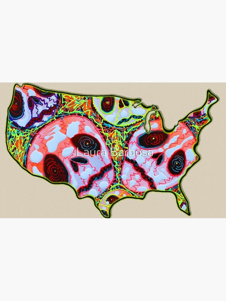 Schädel Karte USA von barbosaart